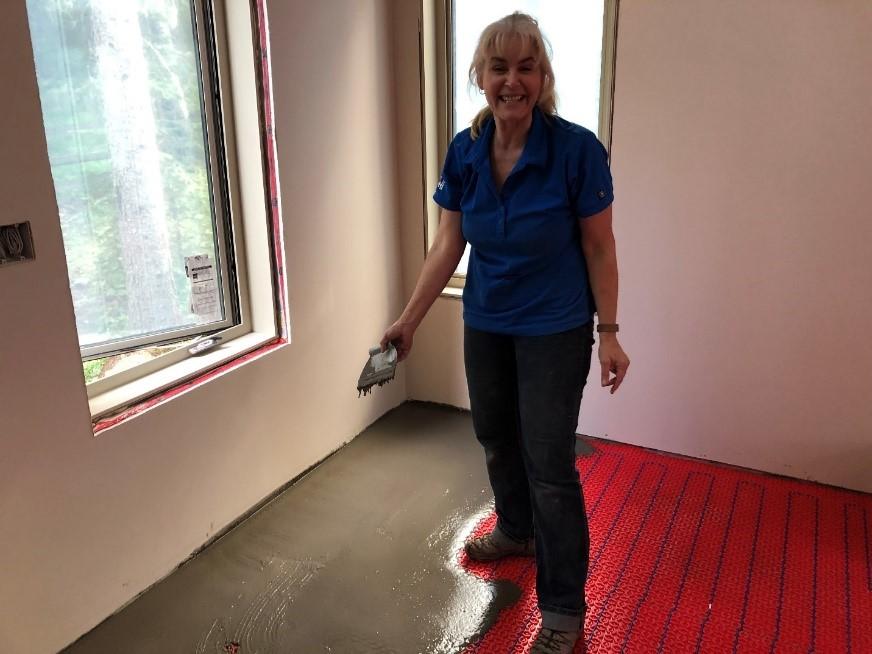 DIY Floor heating installation