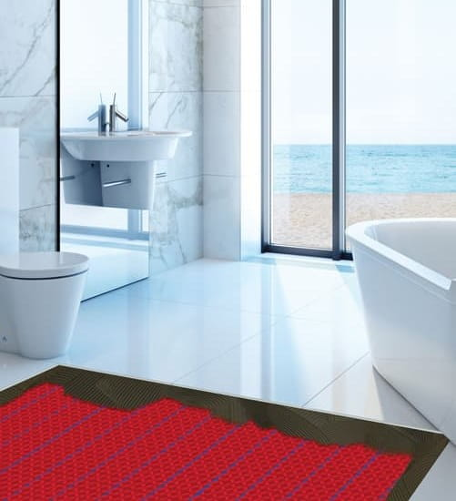 Warmup DCM-PRO Underfloor Heating in Bathroom