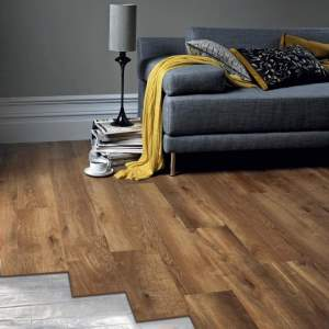 wooden floor with foil underfloor heating