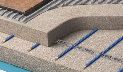 inscreed electric floor system for concrete
