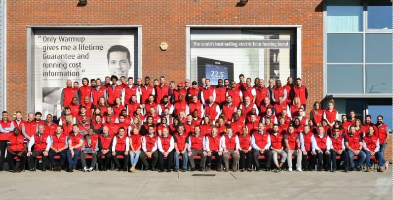 Warmup Employee Group Photo